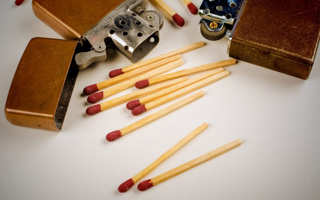 fire safety means teaching children not to play with lighters and matches