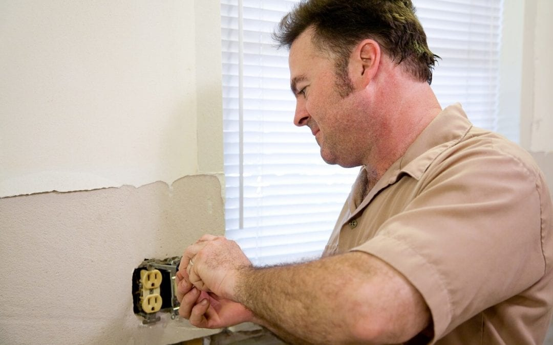 call a pro to repairs electrical problems in the home